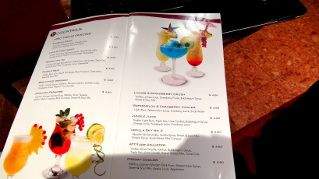 cocktail menu on the MSC Sinfonia cruise ship p-1 | Sinfonia