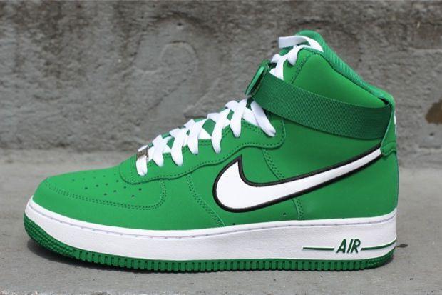 la sortie commercialisable gratuit sites d'expédition Nike Air Force 1 Haut - Pin Vert / Blanc De Basket-ball MojZcp