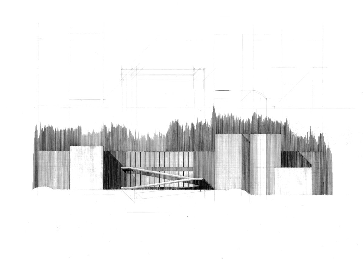 Ando tadao rokko house pinterest - Pencil On Arches Paper Tadao Ando S Eychaner Lee House