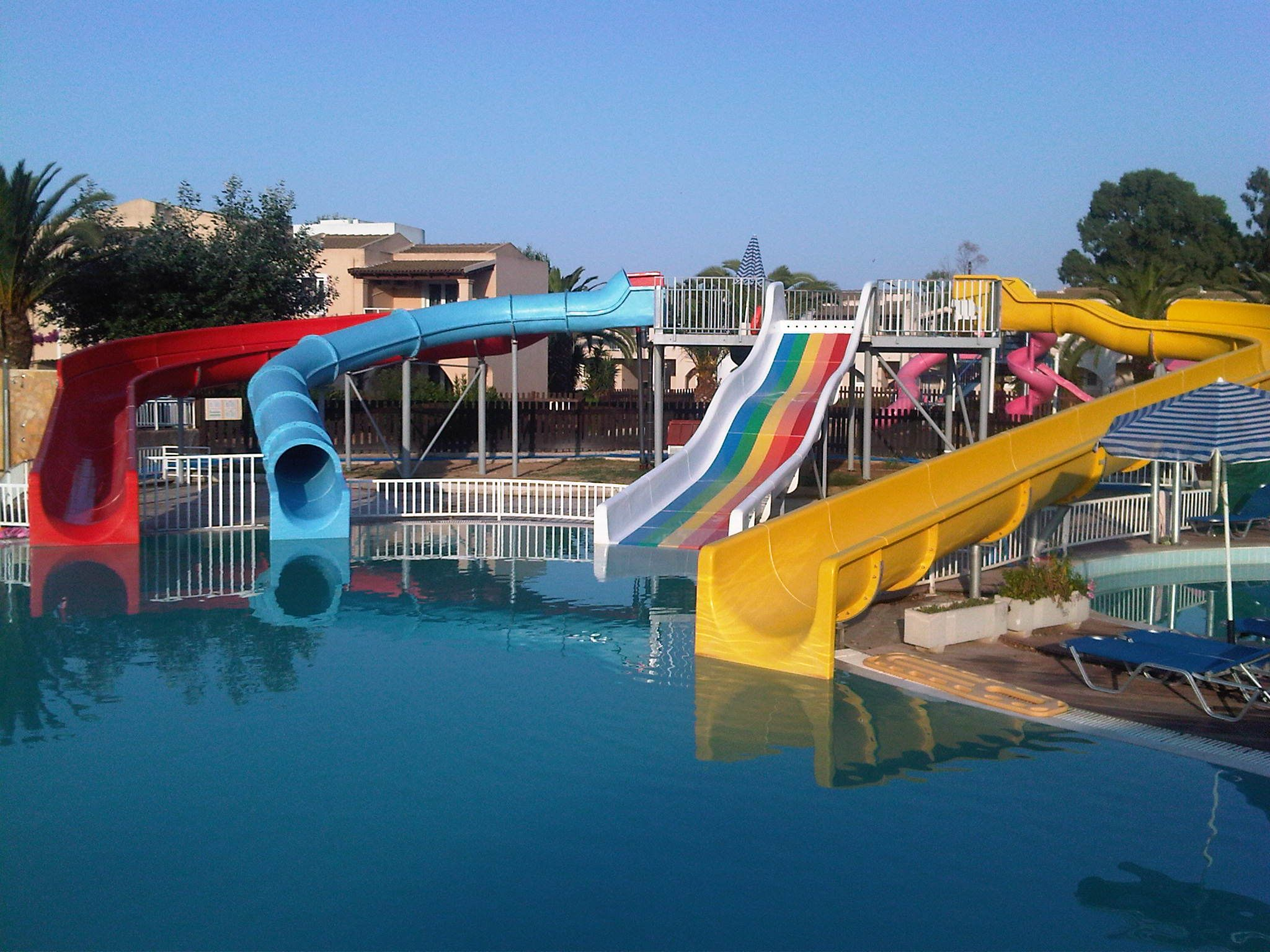 Mini Waterpark At Aquis Sandy Beach Hotel Corfu Greece