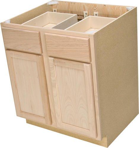 quality one 30   x 34 1 2   unfinished oak double base cabinet quality one 30   x 34 1 2   unfinished oak double base cabinet with      rh   pinterest com