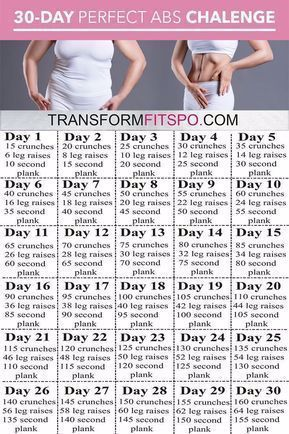 #ABS #Challenge #Day #Perfect Perfect Abs 30 Day Challenge! #30daychallenge #fitness #beforeandafter...