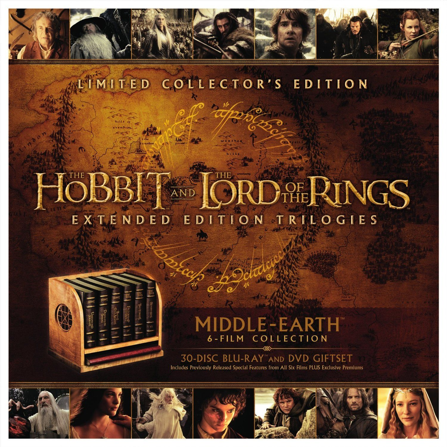 Middle Earth Ultimate Collection Edition 30 Disk Blu Ray Dvd Set Contains All Middle Earth The Hobbit Blu Ray