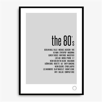 Remember Poster - The 80's - Kreativitum