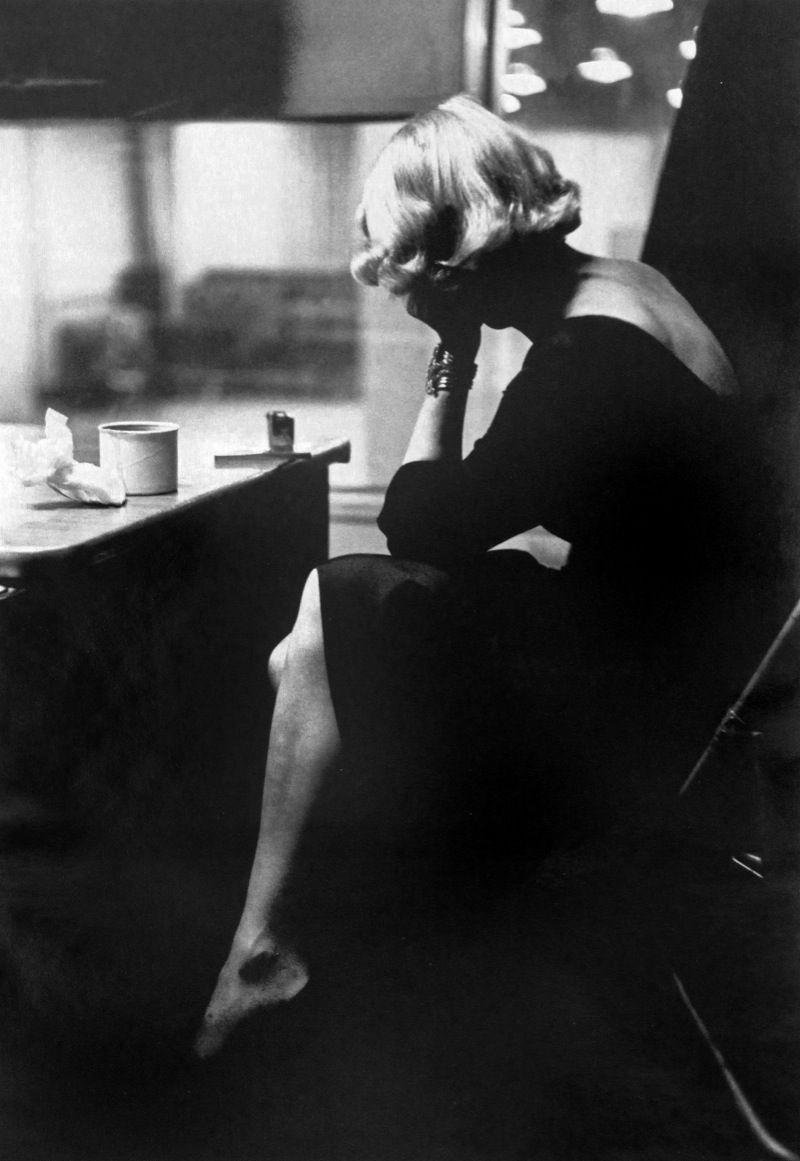 Marlene Dietrich at Columbia Records Recording Studios, New York, 1952