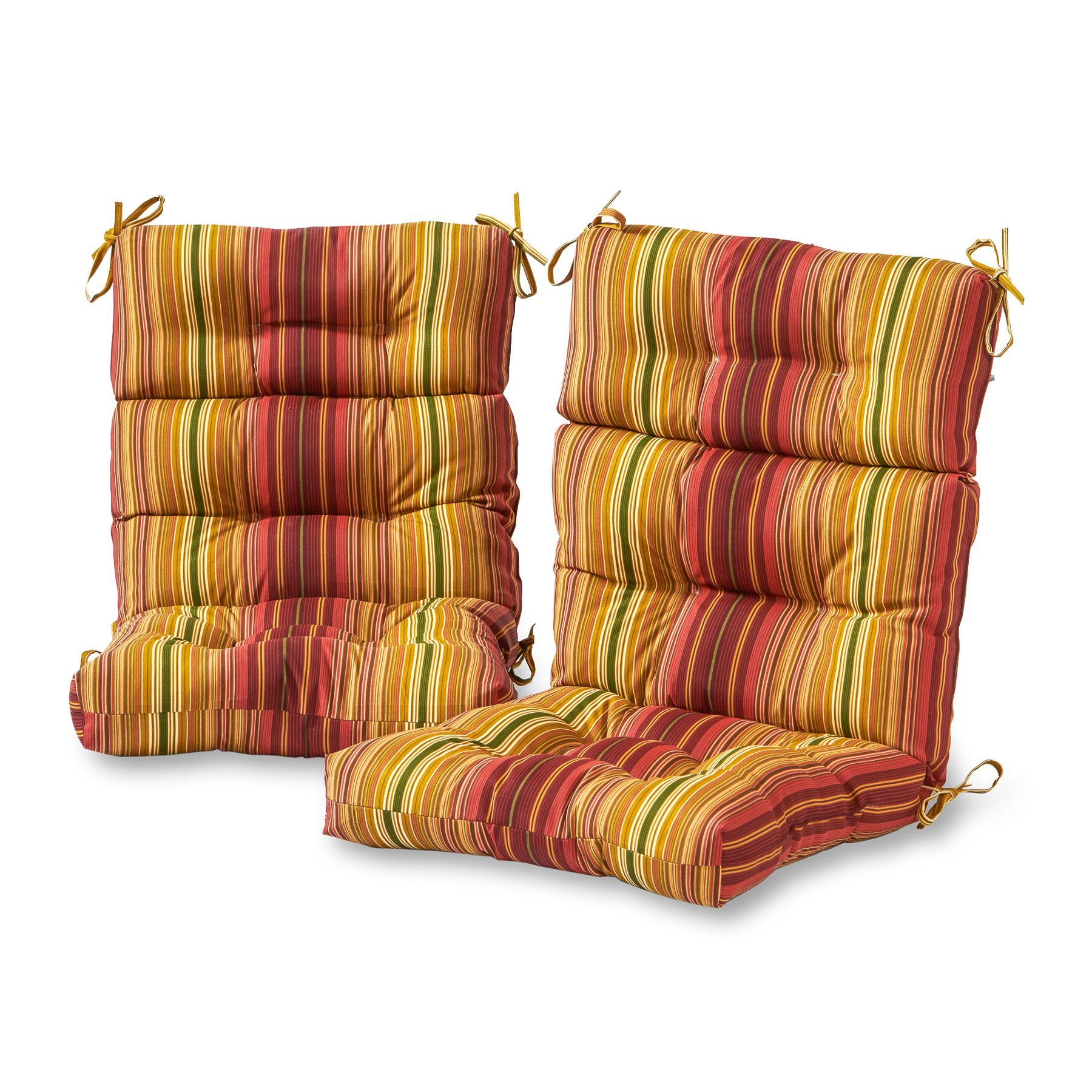 Outdoor Highback Chair Cushion Set SET OF 2 High back
