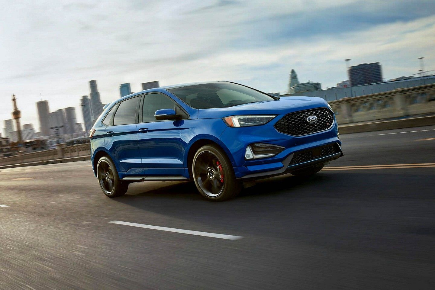 The Photo Is Couresty Of Ford Media The All New 2019 Ford Edge Can Be Found At Planet Ford In Spring Texas Ford Suv Models Ford Suv Suv Models