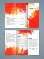 Abstract Trifold Brochure Template Or Flyer Design  Conference