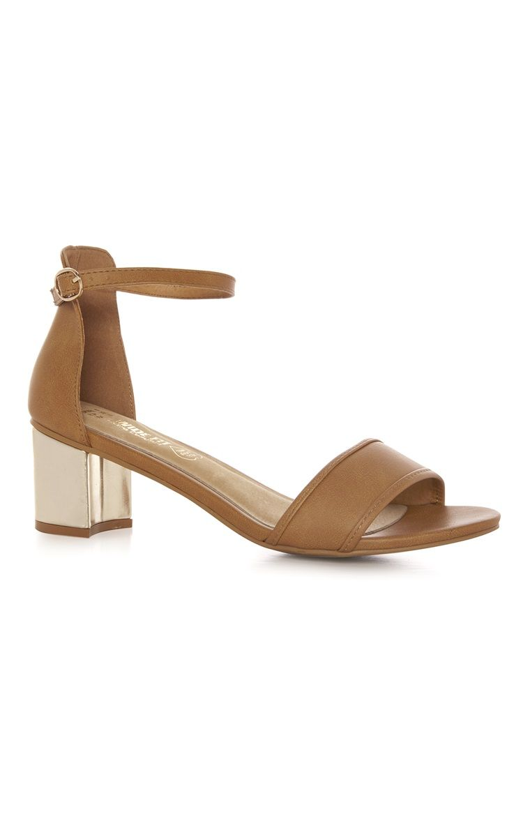3a12c83be1b Primark - Tan Ankle Strap Wide Fit Sandal £12.00