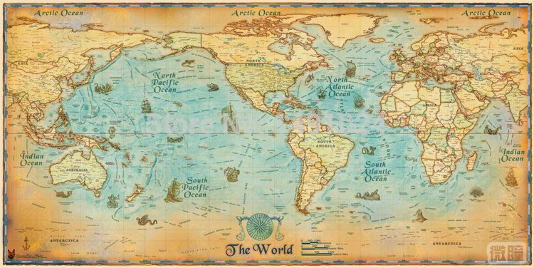 1pc ancient vintage large clear modern english antique vintage large hd vintage world map classrooms office home decoration detailed antique poster wall chart cotton cloth canvas painting gumiabroncs