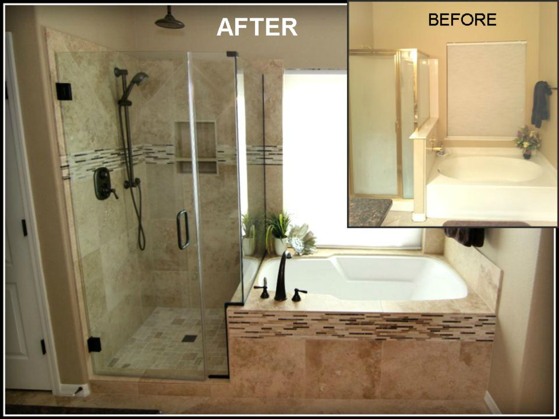 Bathroom modern minimalist bathroom remodeling bathtub and - Before and after small bathroom remodels ...