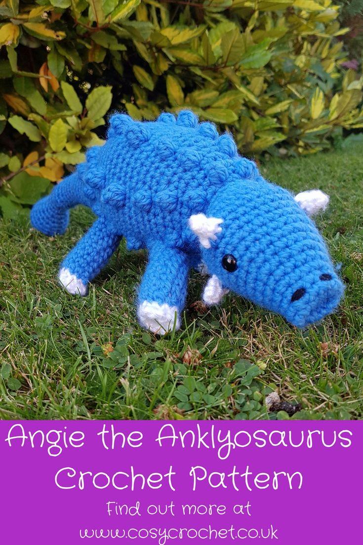 Amigurumi ankylosaurus dinosaur crochet pattern | CROCHET STUFFED ...