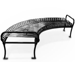 Black Fire Pit Benches | Backless Circular Bench | Premier Style (Black)
