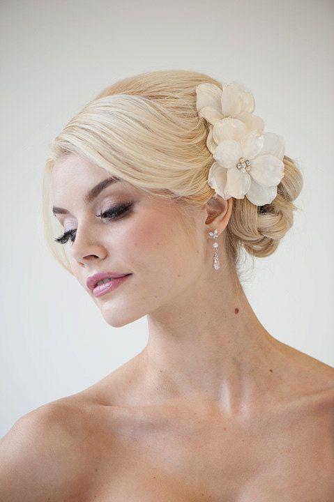 bridal flower hair clips wedding hair by powderbluebijoux on etsy 6900