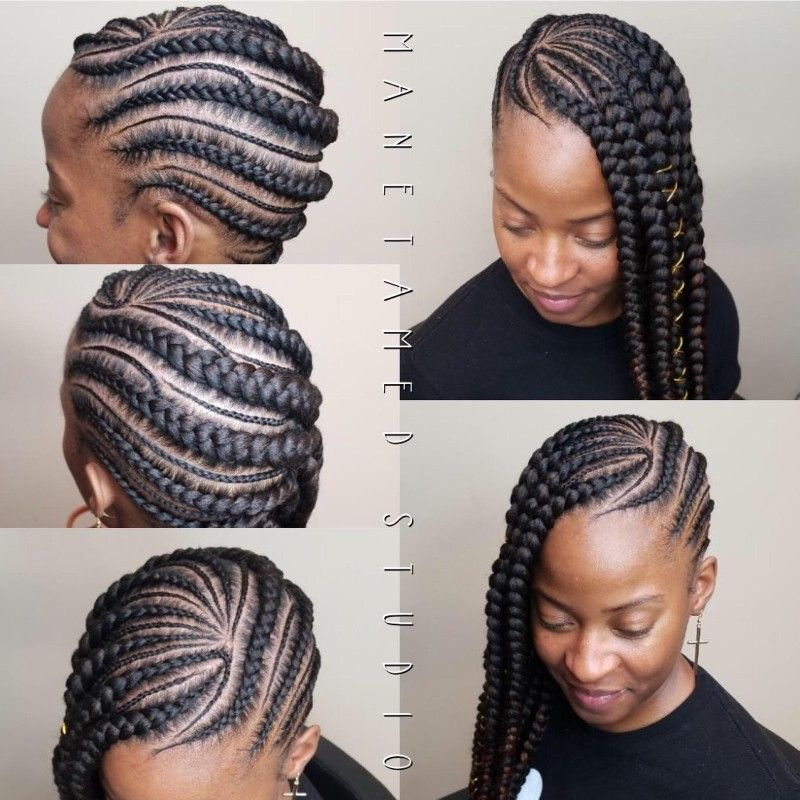 Large Lemonade Braids Feed In Braids Braid Designs Feed In Braid Lemonade Braids Hairstyles Unique Braids