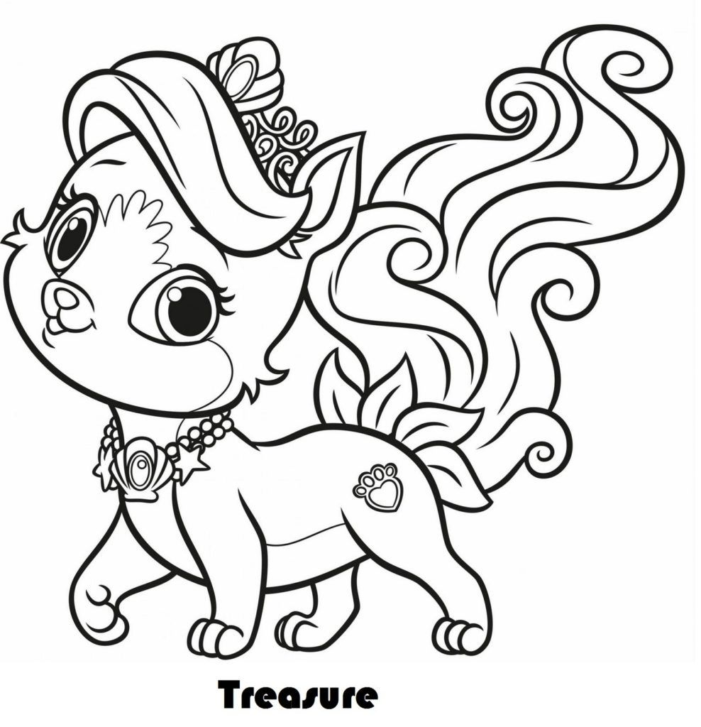 Daisy From Palace Pets Puppy Coloring Pages Animal Coloring