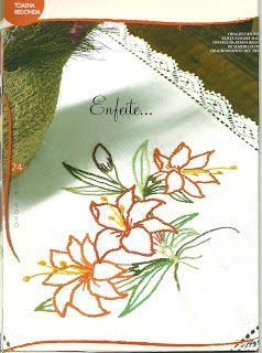 Lili Fazendo Arte Passo A Passo Bordado A Mao Livre Floral