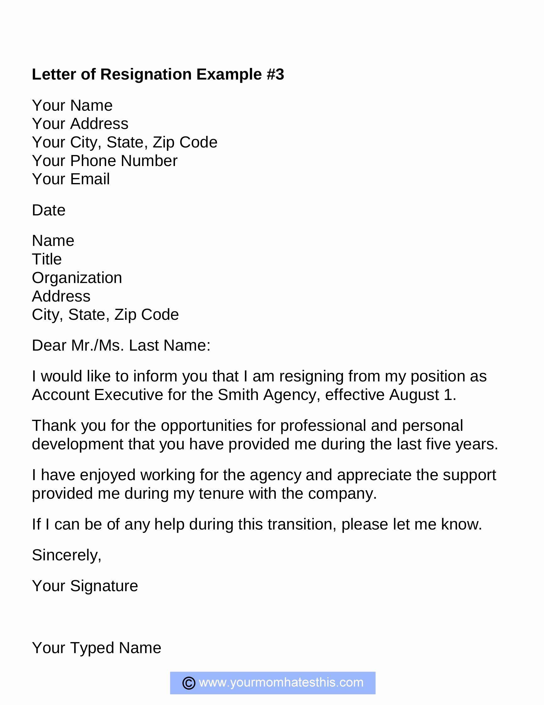 40 Professional Letter Of Resignation Resignation letter