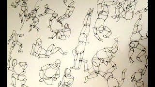 How to sketch & draw people Part I - How to use a mannequin by Alphonso Dunn
