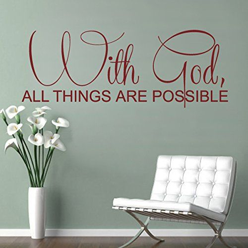 Bible Wall Decal Christian Wall Quote Religious Wall Sticker Words - Custom vinyl wall decals christian