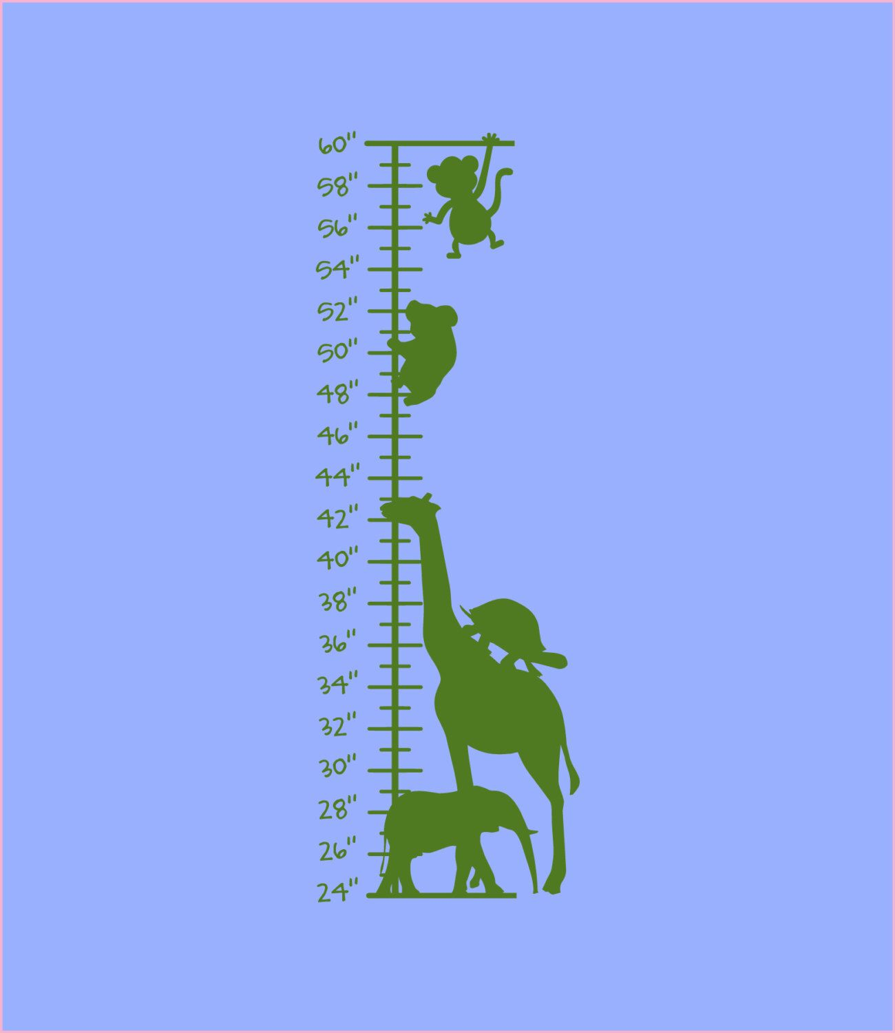 Safari stacked animals growth chart nursery wall decal wall safari stacked animals growth chart nursery wall decal wall vinyl vinyl decal nvjuhfo Image collections