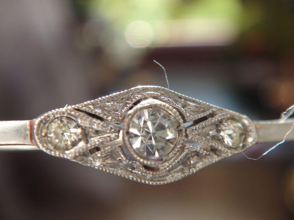 Nadel Brosche 935 Silber mit klaren Edelsteinen Art Deco Unbedingt - Ebay Küchen Kaufen