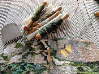 Christine Pradel-Lien Handwoven Tapestries, grattoir