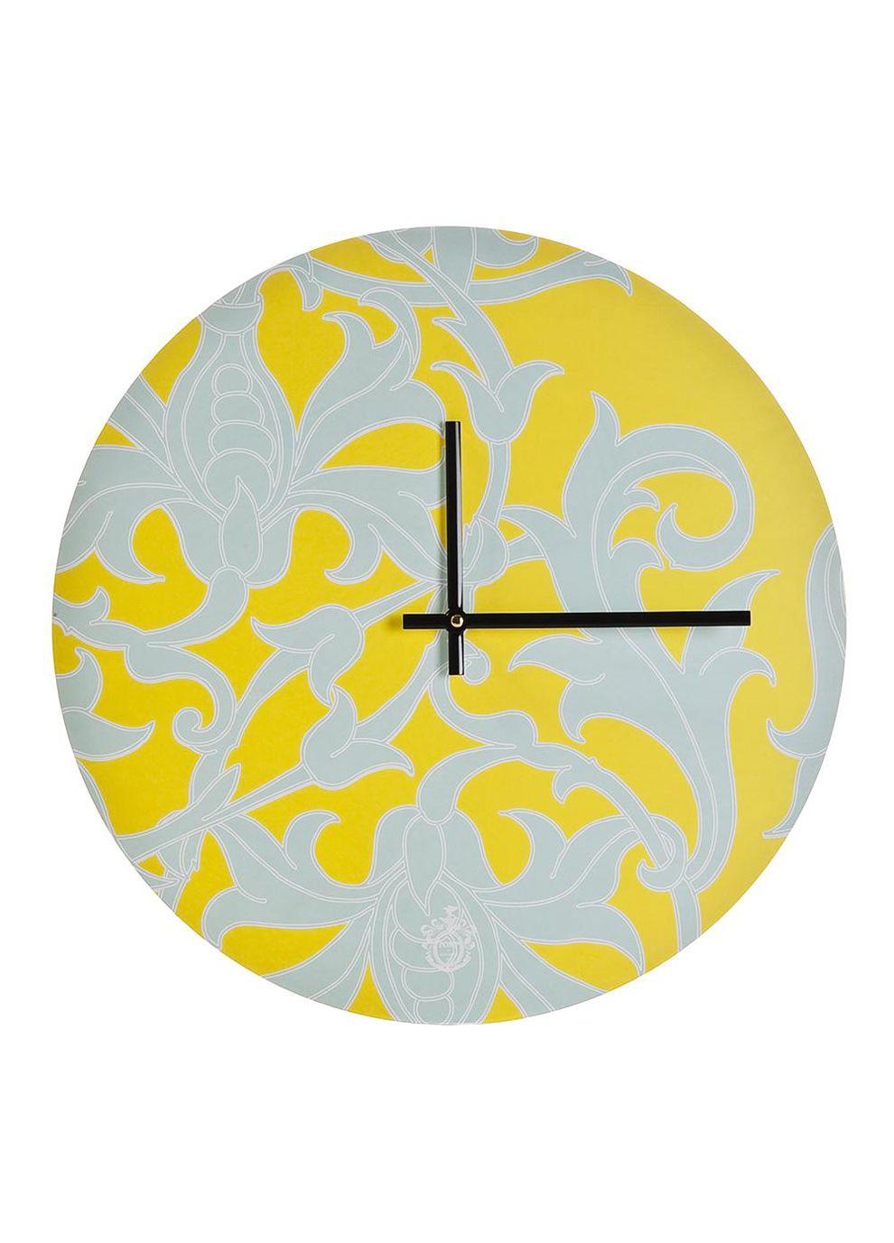 Summer Brights Lily Yellow Wall Clock