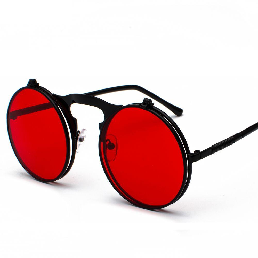 27bebb4f2 Peekaboo unisex retro steampunk sunglasses flip up green yellow red small round  summer style unisex sun glasses men women #$5.99 #flipupsunglasses ...
