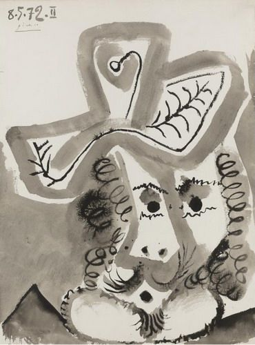 Tête d`Homme au Chapeau II, 1972 © Pablo Picasso