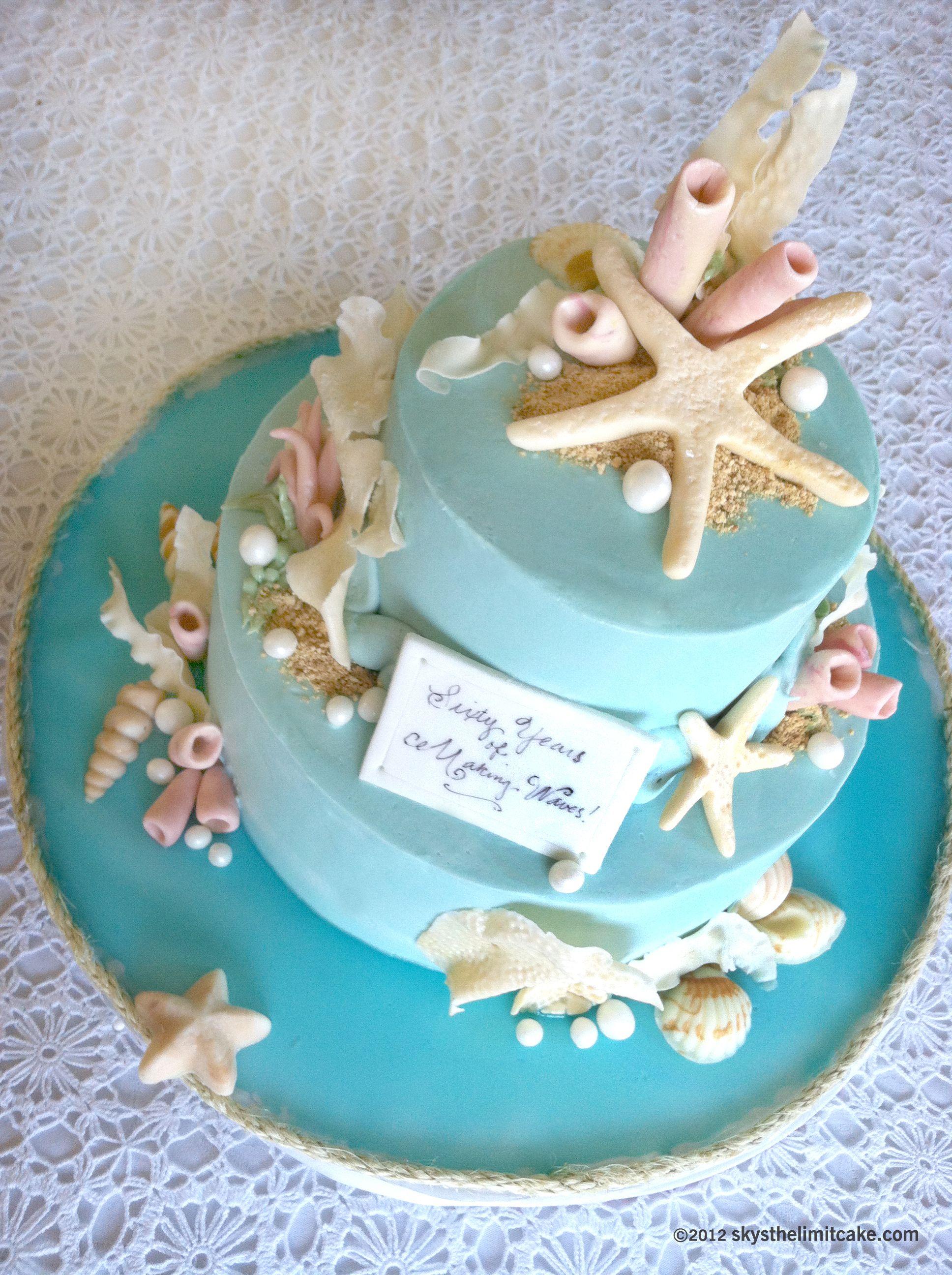 A Seaside Custom Birthday Cake for a very special lady ...