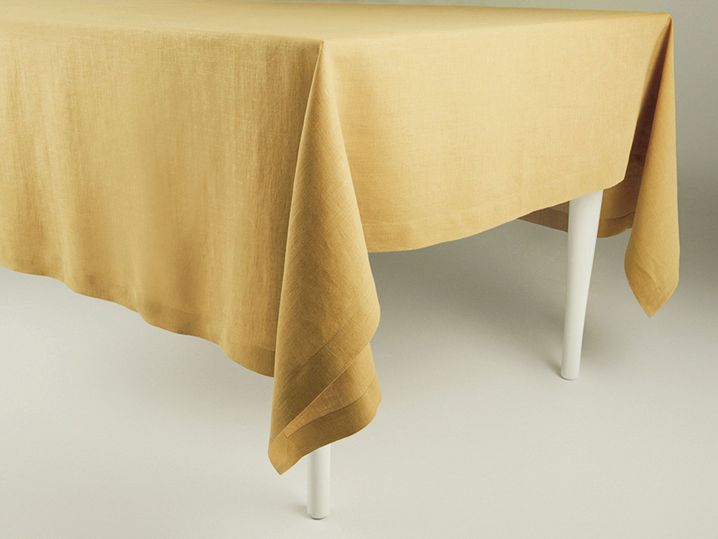 Yellow Ochre Linen Tablecloth Linen Tablecloth Fabric Samples