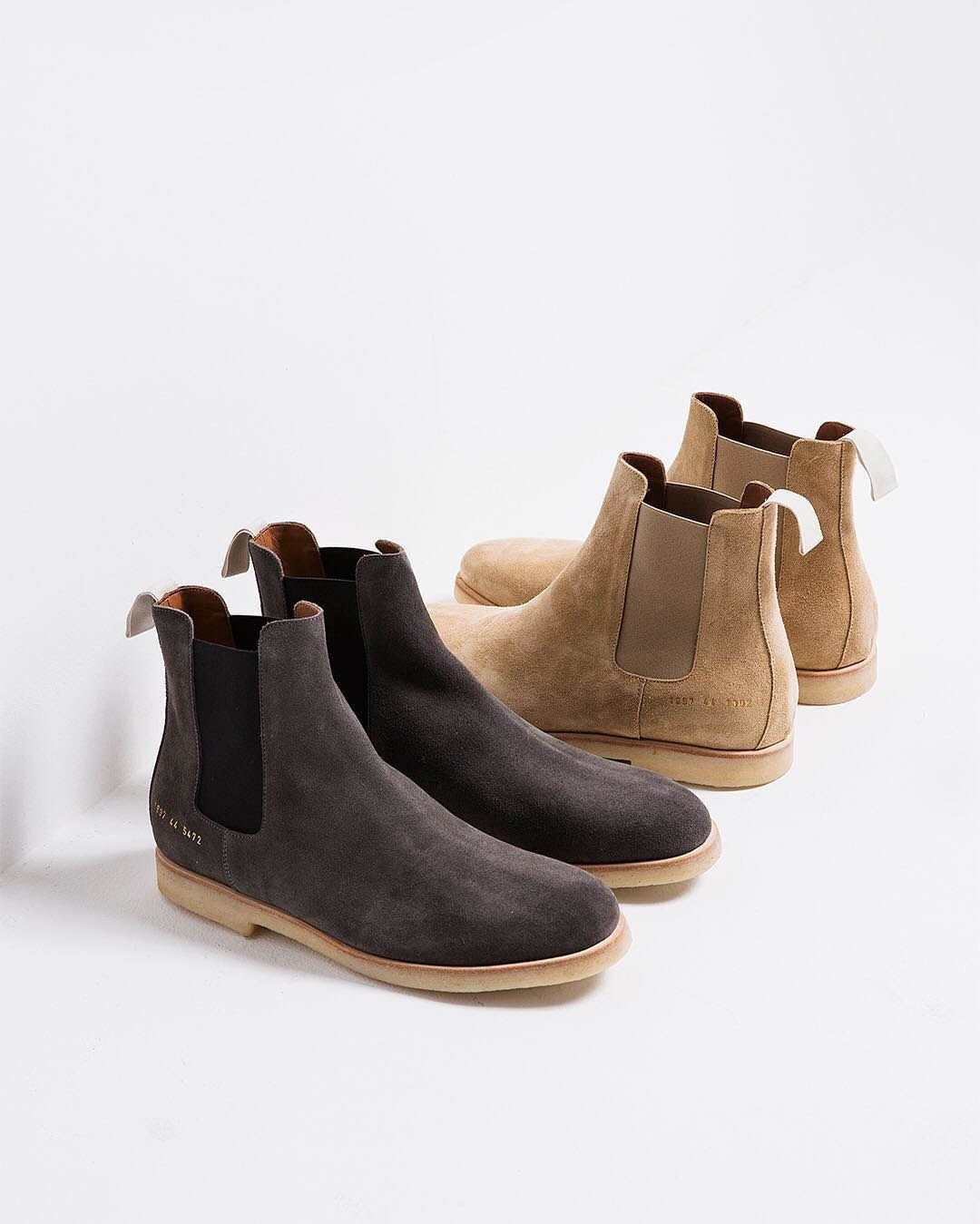 Suede Chelsea Boots. #commonprojects