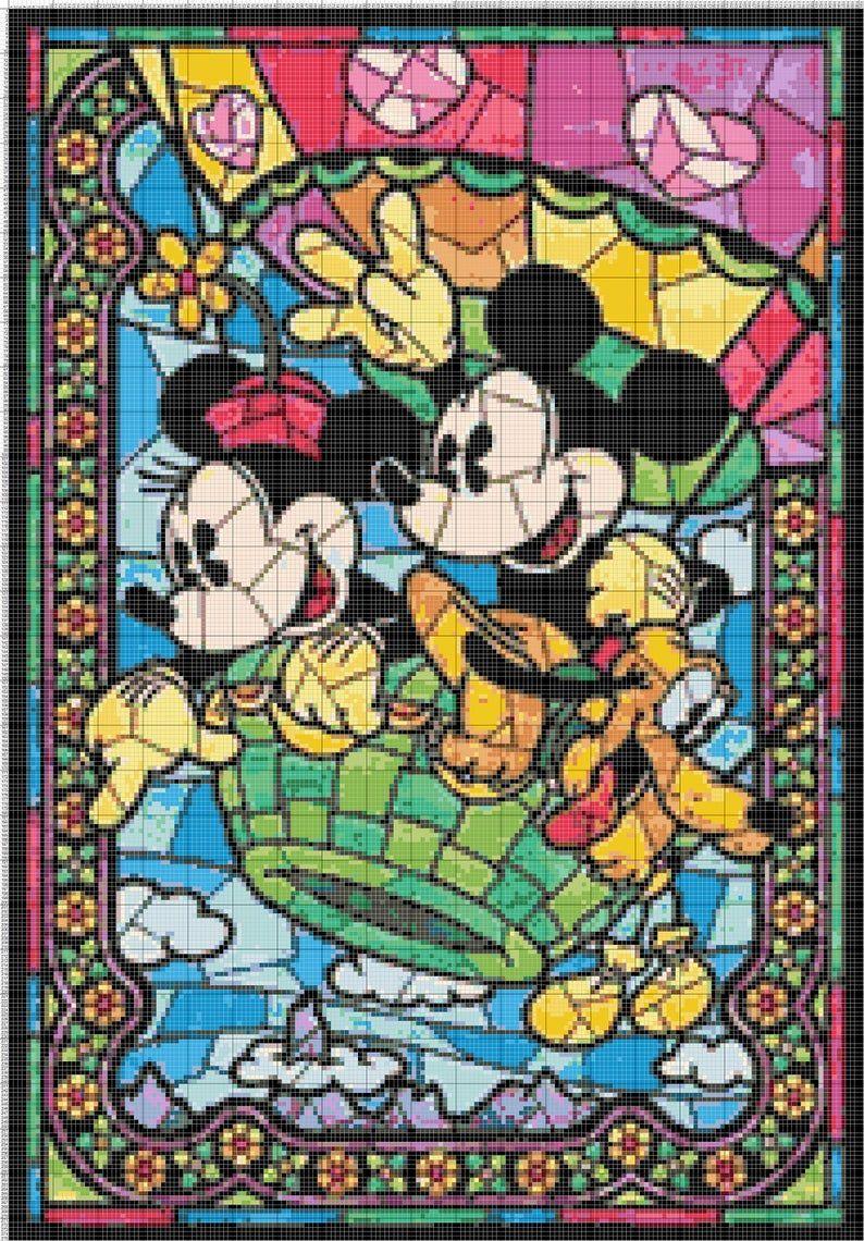 cross stitch pattern PDF pattern Mickey pattern cross stitch disney Mickey tale instant download! cross stitch Mickey disney pattern