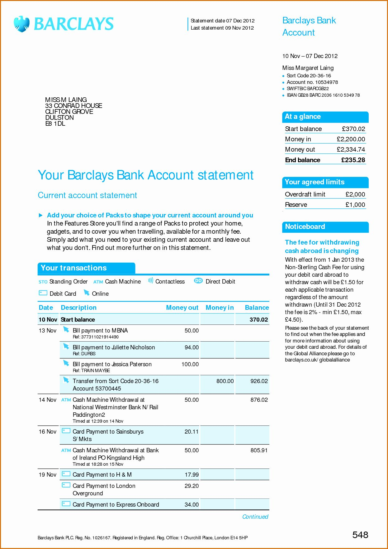 25 Fake Chase Bank Statement Template in 2020 Credit