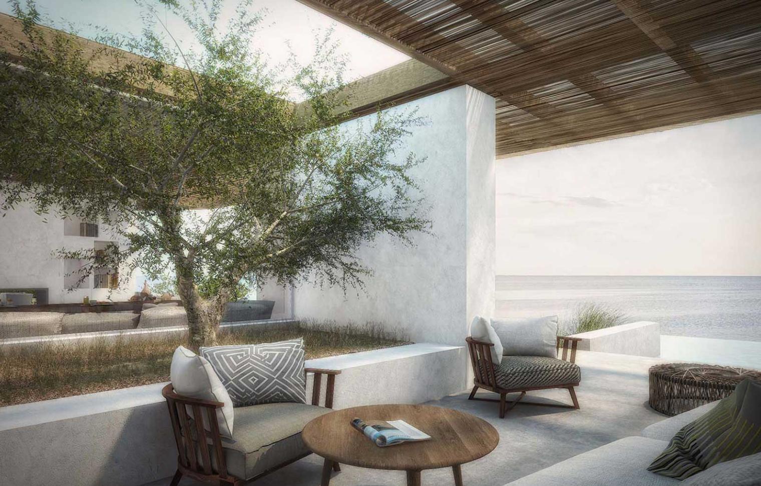 casa vacanza Grecia Creta progettato dallo studio block722