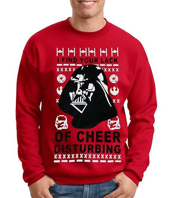 Star Wars Ugly Christmas Sweater Darth Vader Funny Stuff