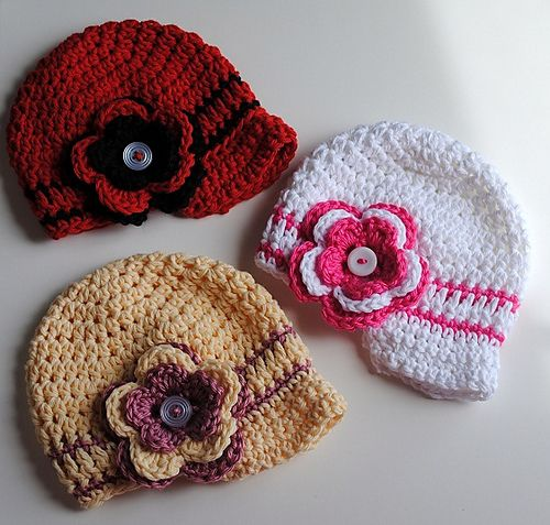 Newborn Newsgirl / Newsboy Cap with Interchangeable Flower pattern ...