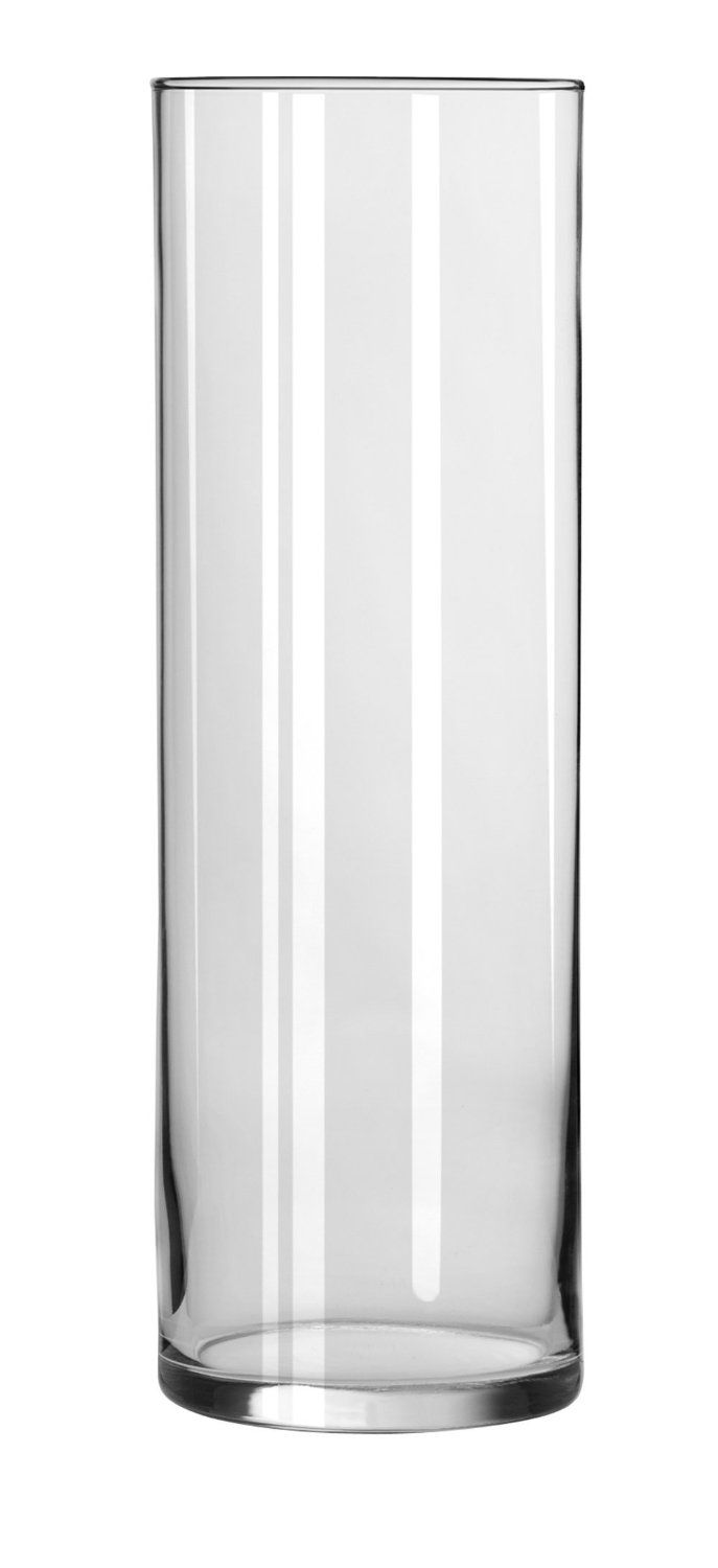 Amazon.com - Libbey 10 1/2 Inch Cylinder Vase in Clear, Set of 4 ...