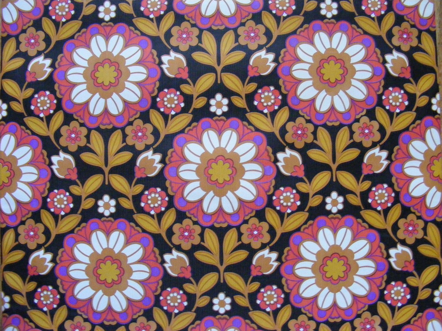Meter Vintage Wallpaper Sanderson Heavy Vinyl Coating S S - Arts and crafts fabric patterns