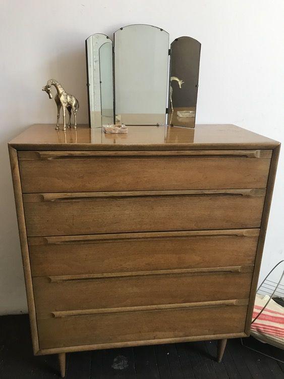 Mid Century Tallboy Dresser