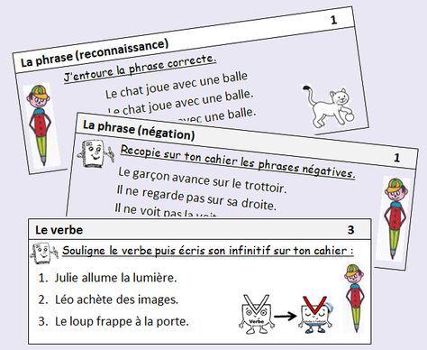 Exercices quotidiens en grammaire et conjugaison education grammaire ce1 exercice grammaire - Grammaire ce1 a imprimer ...