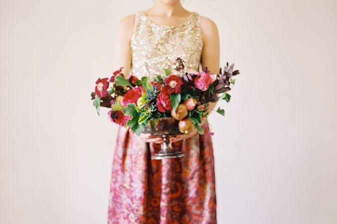 fall floral arrangement by ashley beyer