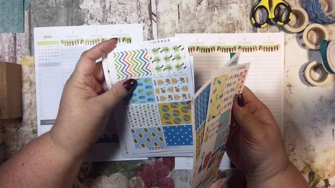 Plan with Me; Summer Themed Plum Paper Planner in Kikki K Binder