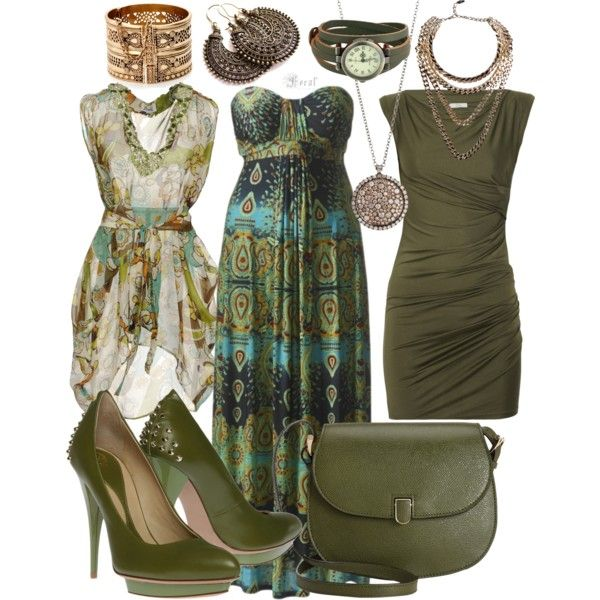 mix n 39 match green and brown by laura blakney on polyvore olive green brown neutral set mix. Black Bedroom Furniture Sets. Home Design Ideas