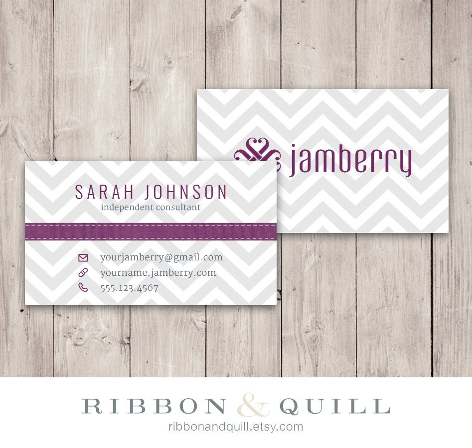 Jamberry Nails Business Card Chevron - Custom PDF, Printable ...