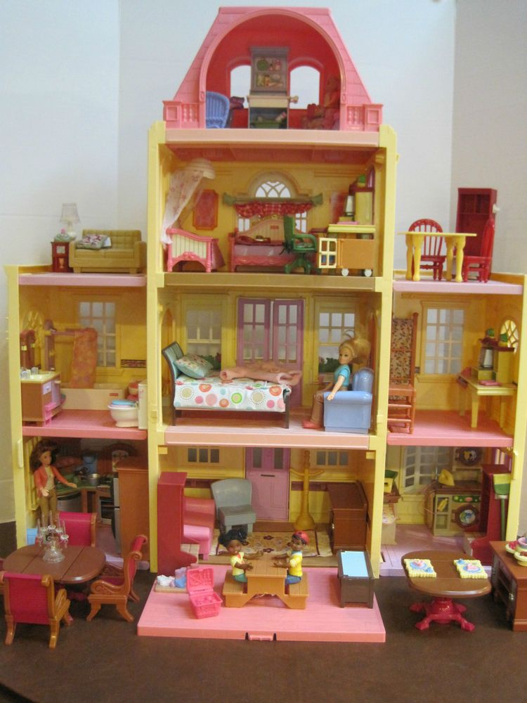 Fisher Price Loving Family Twin Time Doll House 78 Pcs