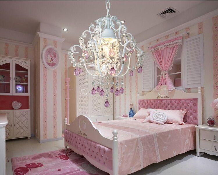 European Crystal Chandelier Pendant Lamps Home Decoration Princess Chandeliers Lustre Crystal Children Room Light Contemporary
