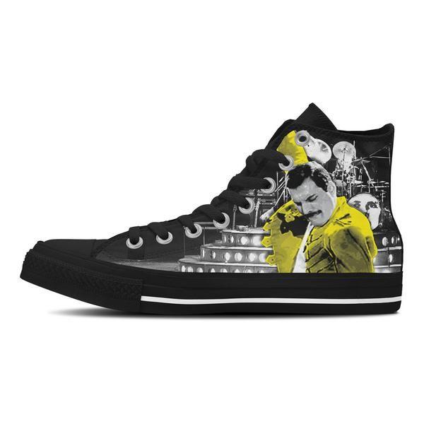 new concept 01d7e 2f9ff Custom Freddie Mercury Canvas Shoes or Bags