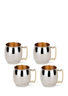 Old Dutch International Ltd.  Solid Copper Moscow Mule Mugs Set of 4
